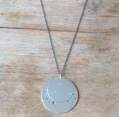 Sterling Silver Custom Astrological Pendant Necklace. $160.00, via Etsy.