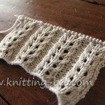 free eyelet rib knitting stitch pattern