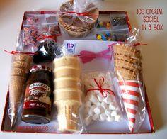 ice cream sundae gift box.......great teacher/neighbor/family gift