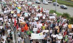 Pregopontocom Tudo: O Brasil parado: Protestos contra reforma da Previdência varrem todo o país...