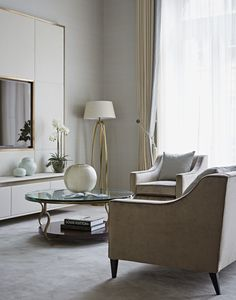 One Kensington Gardens, Knightsbrige, London Bedroom Seating Bedroom Media Contemporary by Taylor Howes
