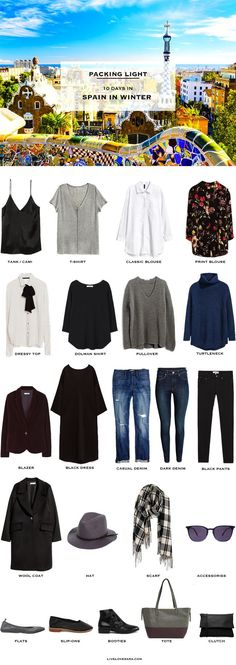 to Pack for Spain in Winter - Packing Light What to Pack for Spain 10 Days in winterWhat to Pack for Spain 10 Days in winter Winter Outfits, Winter Travel Outfit, Winter Packing, Packing Tips For Travel, Travel Outfits, Winter Clothes, Winter Dresses, Travel Hacks, Holiday Outfits