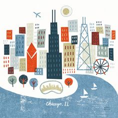 Whimsical US Cityscapes by Michael Mullan, via Behance