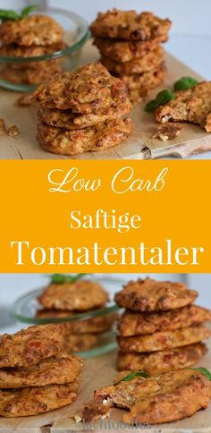 Low Carb Tomatentaler Juicy low carb tomato taler without flour. Taler without . - Low Carb Tomatentaler Juicy low carb tomato taler without flour. Taler without flour, low car - Healthy Low Carb Recipes, Low Carb Keto, Keto Recipes, Recipes Dinner, Keto Snacks, Healthy Snacks, Healthy Eating, Breakfast Healthy, Healthy Muffins