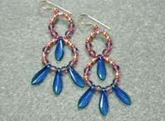 Hoops and Daggers Beaded Earrings Tutorial