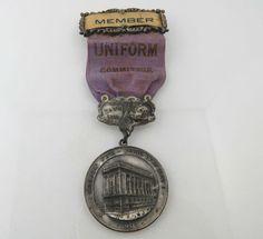Masonic Fair Souvenir Medal - Vintage 1907 Antique Uniform Committee Member