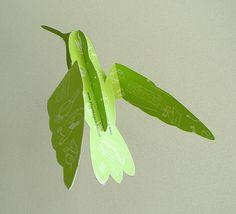 Bouwplaten. Kolibrie. Bouwplaat van een kolibrie voor de voorlichtingsdag van Stoas Wageningen. Grafisch Ontwerpers Arnhem