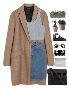 """Nat beats everyone"" by samiikins ❤ liked on Polyvore featuring Zara, A.P.C., Dr. Martens, Retrò, VesseL, Muuto and Alexander Wang"