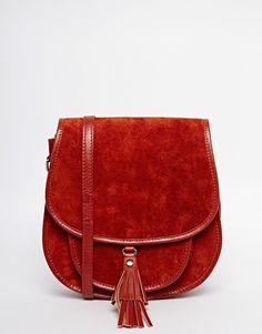 ASOS COLLECTION ASOS Suede 70s Saddle Shoulder Bag