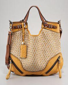 My new handbag! Just nabbed it for 99.00 at TJ Maxx! Oryany Regina Raffia Shoulder Bag - Neiman Marcus