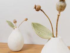 Ceramic Pear Vase White Modern Vase ~ Handmade Pottery Pear Ceramic Fruit Sculpture ~ White Ceramics Flower Vase Bud Vase ~ Hostess Gift by CatsCeramics on Etsy https://www.etsy.com/listing/249231329/ceramic-pear-vase-white-modern-vase