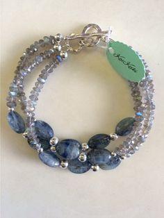 Blue Kyanite Labradorite Gemstone Sterling by KaiKeikiJewelry