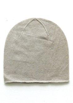 Cashmere w merino knit cap - Beige