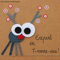 The collec & # - Site toutpetitrien! Jean Crafts, Denim Crafts, Paper Crafts, Small Christmas Gifts, Christmas Crafts, Sylvie Fleury, Artisanats Denim, Denim Art, Fabric Cards