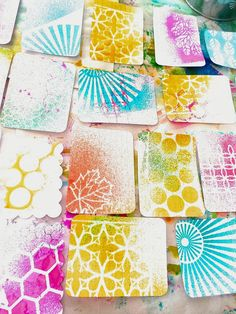 DIY -- Add Some Color To Your Project Life Pages with Stencils and Ink Sprays