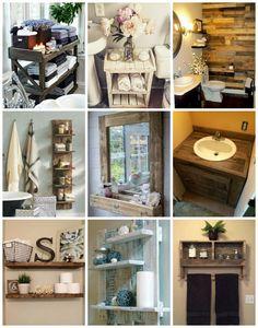 Fürdőszobabútorok raklapból - Színes Ötletek Cabin Bathrooms, Woodworking, Home, Decoration, Decor, Ad Home, Decorations, Homes, Carpentry