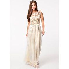 Chiffon Lace Cut Out Dress
