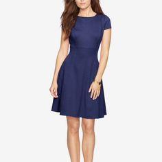 NWOT ❣American living jacquard dress Navy blue dress from American living, size 14 (L/XL) NWOT American living  Dresses Midi