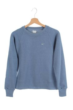 Vintage 90s Nike Small Swoosh Sweatshirt  Blue SIze S New with Tags