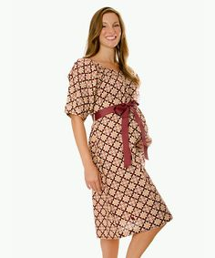 Take a look at this Purple Berry Stork Maroon Traditional Delivery Gown by Purple Berry Stork on #zulily today!