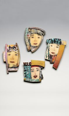 Jewelry Design - Pin/Pendant with Polymer Clay Faces - Fire Mountain Gems and Beads