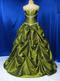 Wedding Dress Fantasy - Green Wedding Dress - Available in Every Color 8, $799.00 (http://www.weddingdressfantasy.com/green-wedding-dress-available-in-every-color-8/)