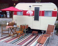 """""""Georgia Jammin' """" Spoon Sisters own vintage camper."""