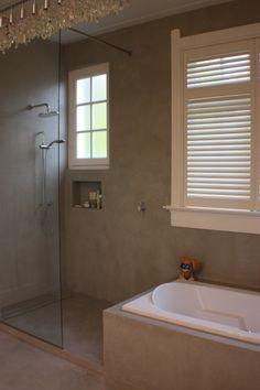 walls in cement? Bathroom Interior, Modern Bathroom, Small Bathroom, Dream Bathrooms, Beautiful Bathrooms, Open Showers, Scandinavian Bathroom, Tadelakt, New Toilet