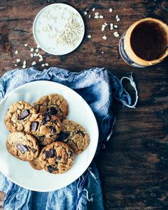 Oatmeal Peanut Butter Chocolate Chunk Cookies on Foodess