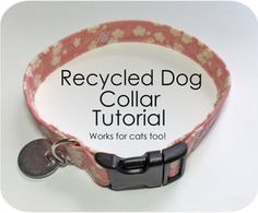 how to sew a dog collar & use parts from old collars (or cheap,ugly clearance ones ;)   these directions are not adjustable