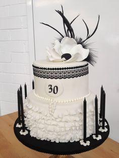 :) Happy 50th Birthday, Birthday Parties, 30th Party, 17th Birthday, Birthday Cakes, Birthday Ideas, 1920s Cake, Art Deco Cake, Cake Art