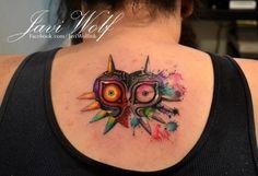 Beautiful Zelda Tattoo idea... love the water colour tattoos lately.