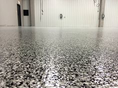 Slip Resistant and Durable Commercial Epoxy Flake Flooring in Conway, Arkansas.