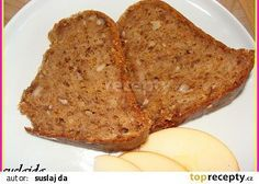 Jablkovo- mrkvová bábovka recept - TopRecepty.cz Ham, Banana Bread, French Toast, Food And Drink, Cooking Recipes, Good Things, Baking, Breakfast, Sweet