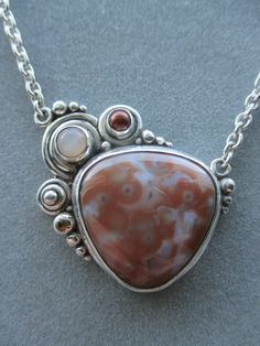 One of a Kind Sterling Silver Jasper Statement Pendant by RichelleJewelry on Etsy