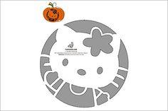 Free Pumpkin Carving Stencils to Print | Hello Kitty Pumpkin Carving Stencil