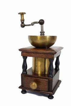 seltene große Kaffeemühle, coffee grinder, molin à cafe, 19. Jhdt, Holz Messing | eBay