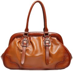 Heshe Women Soft Cowhide Leather Magnetic Snap Shoulder Bag Top-handle Travelling Business Handbag for Office Lady. Cowhide leather cowhide with gold high-qualified hardware parts and durable polyester peach skin lining. 1 big inner compartment has phone/ID card/Key pocket and 1 invisible zippered pocket inside.You can take your wallet/make up bags/sunglasses and daily things with you. European and American Style.Generous and elegant.Can be taken to dating/work place/travelling.It is an...