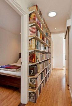 Smart DIY Small Apartment Decorating Ideas on A Budget - Page 55 of 56 Home Library Design, House Design, Home Library Diy, Library Wall, Diy Casa, Home Libraries, Small Apartment Decorating, Apartment Design, Cool Apartments