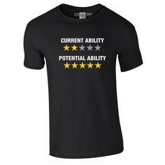 Current Ability Potential Ability T-Shirt. Which do you have? #FM15 #FM2015