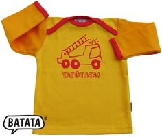 Mein absolutes Lieblingsshirt von BATATA in sonnigen Farben und mit Feuerwehraufdruck, der die Herzen der kleinen boys höher schlagen lässt. Wie immer alles Bio und made in Germany. Kaufen: http://www.batata.de/Babykleidung--Kinderkleidung--Erstausstattung--Shirts--Oberteile--Pullover--Hosen--Kleider/Langarmshirts/Feuerwehr-Shirt-gelb-orange-rot.html #Batata