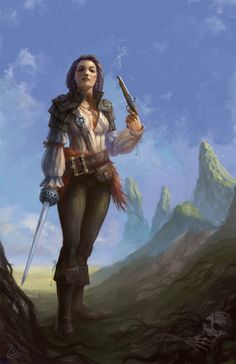 pirate female by Perseass . Character Illustration Inspiration