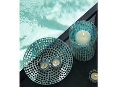 #bougies #bleu #piscine