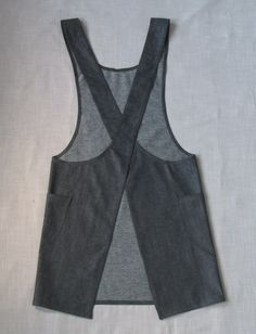 Japanese style crossback denim smock apron by Larklin on Etsy