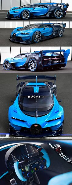 Bugatti Vision Gran Turismo Concept.....I woke up in a new Bugatti.....dope Bugatti Super Sport, Audi Sports Car, Luxury Sports Cars, Fast Sports Cars, Audi Cars, Bugatti Cars, Super Sport Cars, Bugatti Concept, Concept Cars