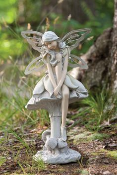 Wholesale Fairy Figurines Wish Fairy Under Flower Branch Fairy