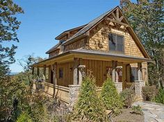 Small Rustic Home Plan Classic - 18805CK | 2nd Floor Master Suite, Cottage, Den-Office-Library-Study, Loft, Mountain, PDF, Photo Gallery, Sloping Lot, Vacation, Wrap Around Porch | Architectural Designs