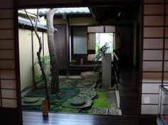 courtyard of a traditional Japanese home