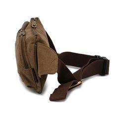 lienzo bolso de la cintura de los hombres al aire libre riñoneras casuales