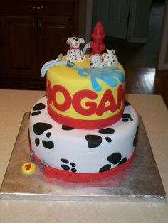 Firefighter Dalmation Birthday Cake | Shared by LION